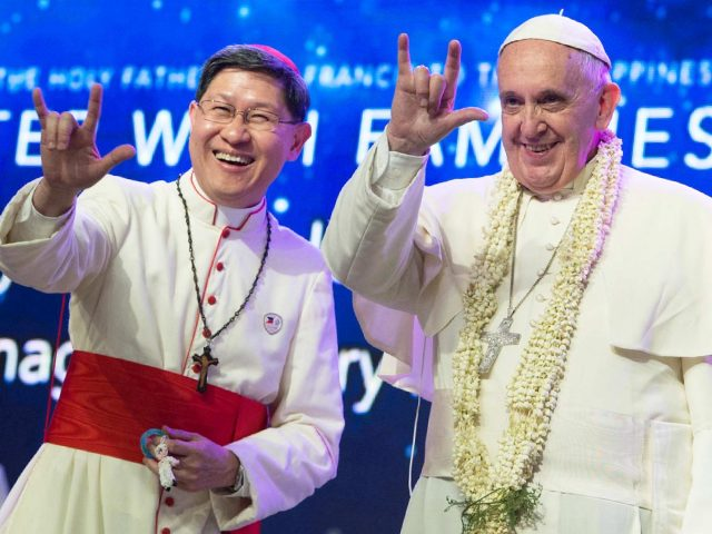 Ferenc pápa szeretet jele