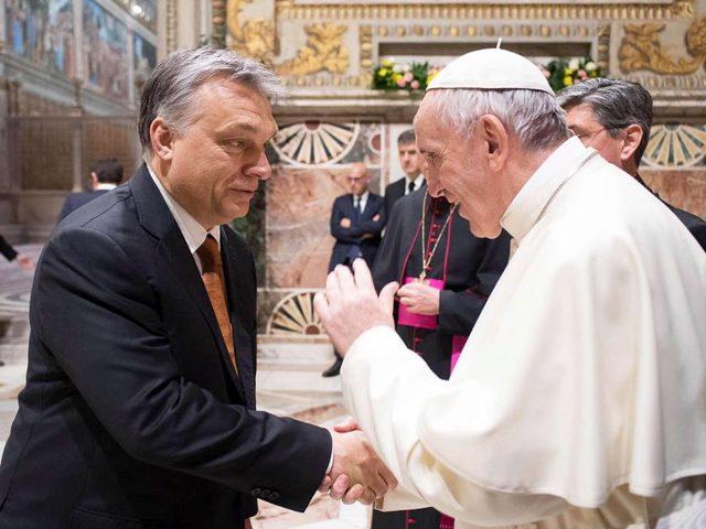 Ferenc pápa Orbán Viktor